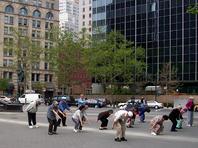 Faire du yoga dans le quartier chinois de New York