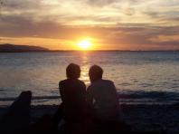 Coucher de soleil en amoureux sur la plage de Cayo Sombrero