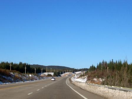Les routes de montagnes dans Charlevoix pendant l'hiver