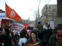 La manifestation historique du 16 mars 2005 à Montréal pendant la grève étudiante